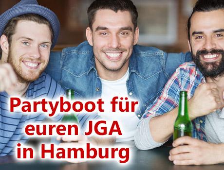 Junggesellenabschied auf dem Partyschiff in Hamburg
