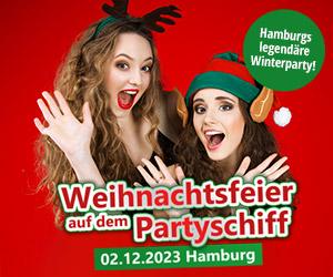 Dj Weihnachtsfeier Hamburg.Weihnachtsfeier Auf Einem Partyschiff In Hamburg